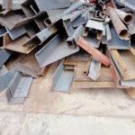 scrap metal bars and poles